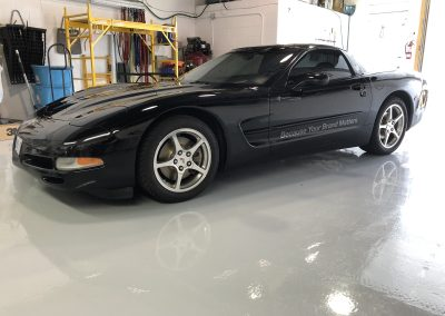 Car Lettering & Graphics - Black Corvette