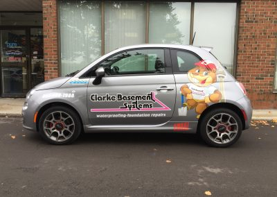Car Lettering & Graphics - Clark Fiat