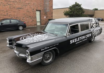 Car Lettering & Graphics - Skeleton Hearse