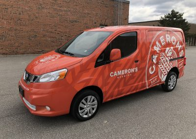 Full Truck Wraps - Camerons NV200