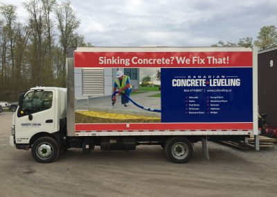 Full Truck Wraps - Concrete Levelling