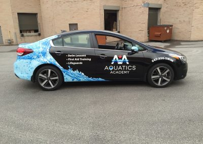 Partial Car Wraps - Aquatic Academy Elantra