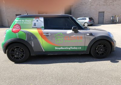 Partial Car Wraps - Clover Mini