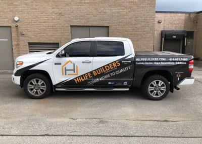 Partial Truck Wraps - HiLife Builders