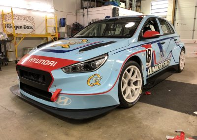 Race Car Graphics Wraps - Hyundai I30N