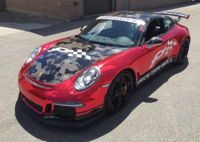 Race Car Graphics Wraps - Policaro Chrome Porsche