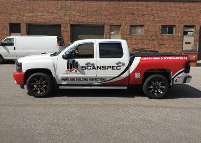 Truck Lettering & Graphics - Scan Spec Silverado